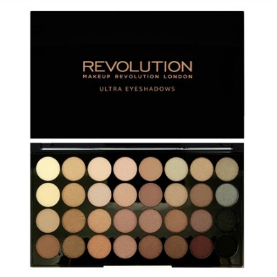 Палетка теней MakeUp Revolution 32 EYESHADOW PALETTE Beyond Flawless: фото