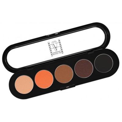 Палитра теней, 5 цветов Make-up Atelier Paris T02 теплые тона: фото