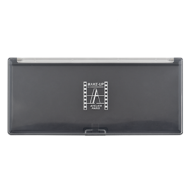 Палитра-кейс магнитный для пудр/теней/румян Make-Up Atelier Paris PRM10, черная с прозрачной крышкой 23х10 см: фото