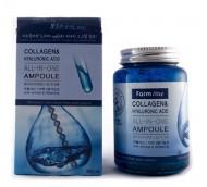 Сыворотка ампульная с гиалуроновой кислотой FARMSTAY Collagen & hyaluronic acid all-in-one ampoule 250 мл: фото