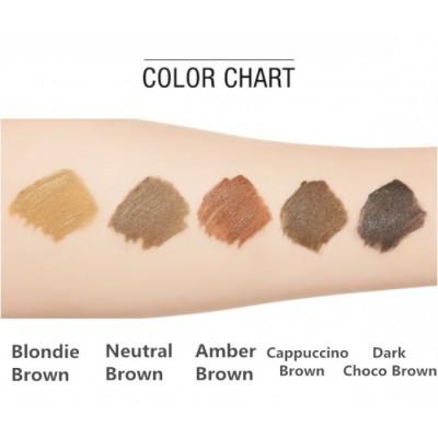 Тушь для бровей MISSHA Color Wear Browcara Amber Brown: фото