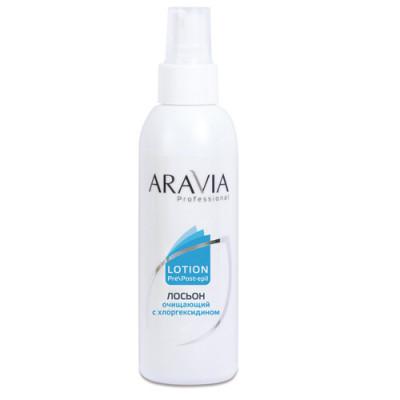 Лосьон очищающий с хлоргексидином Aravia Professional 150 мл: фото