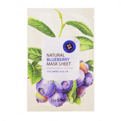 Маска тканевая с экстрактом черники THE SAEM Natural Blueberry Mask Sheet 21мл: фото