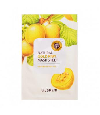 Маска тканевая с экстрактом киви THE SAEM Natural Gold Kiwi Mask Sheet 21мл: фото