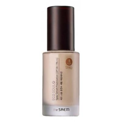 База-сыворотка под макияж THE SAEM Eco Soul Spau Serum Foundation 01 Light Beige 30мл: фото