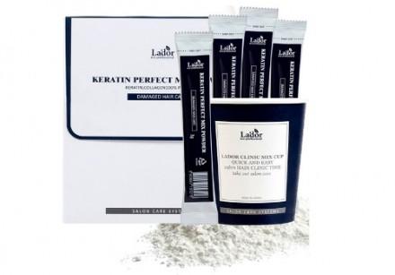 Маска для волос порошковая с кератином и коллагеном La'dor Keratin Perfect Mix Powder 10шт: фото