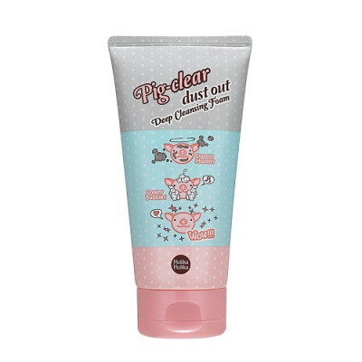Пенка для лица очищающая Holika Holika Pig Clear Dust Out Deep Cleansing Foam 150 мл: фото