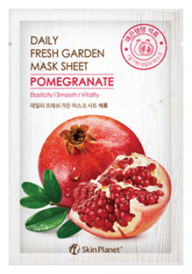 Маска для лица тканевая гранат Mijin Skin Planet daily fresh garden mask sheet POMEGRANATE 25г: фото
