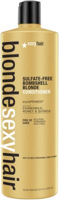 Кондиционер для сохранения цвета блонд SEXY HAIR Bombshell Blonde Conditioner 1000 мл: фото