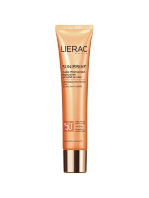 Солнцезащитный флюид Lierac Sunissime Energizing Protective Fluid Global Anti-Aging SPF50, 40мл: фото