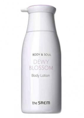 Лосьон для тела экстрактами цветов эдельвейса и ириса THE SAEM Body & Soul Dewy Blossom Body Lotion 300мл: фото
